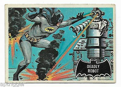1966 Topps BATMAN Black Bat (47) Deadly Robot