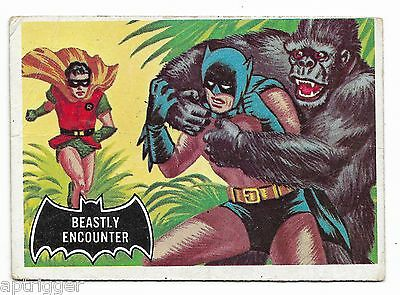 1966 Topps BATMAN Black Bat (50) Beastly Encounter