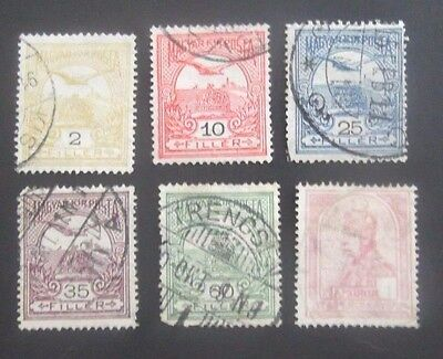 """Hungary-1900-Emperor & """"Tural"""" issues-Used"""
