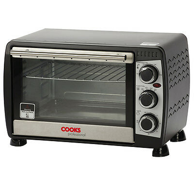 Cooks Professional Mini Black Countertop Oven Electric Cooker 18 Litre Capacity