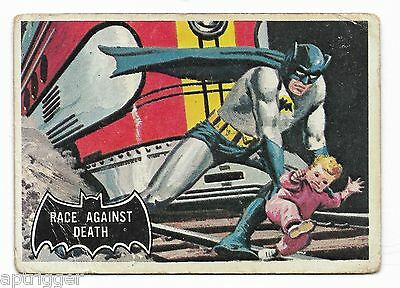 1966 Topps BATMAN Black Bat (53) Race Against Death