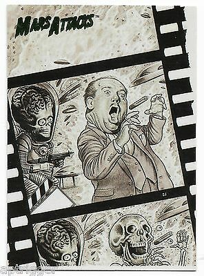 1994 Topps Mars Attacks Base Card (#74) Drew Friedman's Flip Cover #3