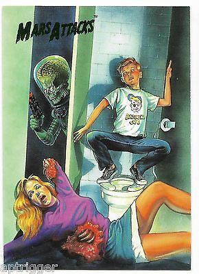 1994 Topps Mars Attacks Base Card (#75) Saunders Flip Cover #4