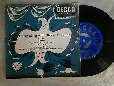 Swing Along With Dickie Valentine / Extended Play Single   Ex