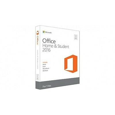 NEW!  Microsoft Office Home & Student 2016 for Mac GZA-00550