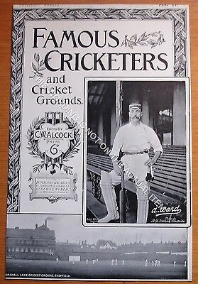 RARE Original Famous Cricketers, A.Ward Yorkshire, Sheffield Cricket Ground 1895