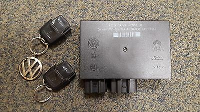 Vw Golf Mk4/bora Convenience Control Module Unit Ccm & 2X Key Fobs 1C0 959 799 B