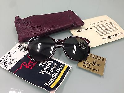 Ray Ban W0345 Bausch & Lomb Oversized Woman Sunglasses Celebrity Vintage Nos