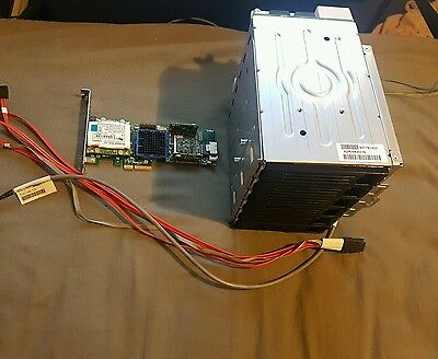 6 Bay SATA SAS Full Hot Swap Kit Intel Server Tower Raid Adaptec ASR-3405