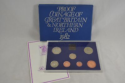 Royal Mint 1982 Proof Coinage of Great Britain and Northern Ireland set