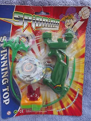 Spinning Top soldier 3D Beyblade&Launcher Grip Set Rapidity Fight Toy Kids Gift