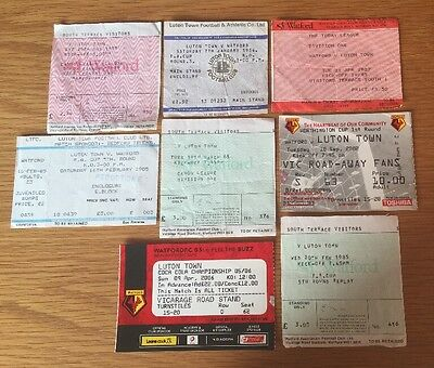 Luton Town Vs Watford Ticket Bundle 1983- 2006
