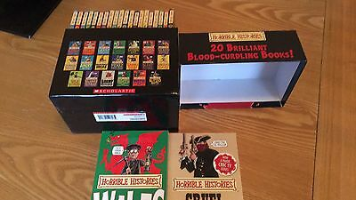 Horrible Histories Blood-Curdling Box of Books. 20 Book Box Set.
