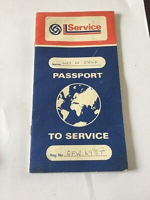 Leyland Passport to Service AKM 4014 1979 USED With Stamps Classic Mini