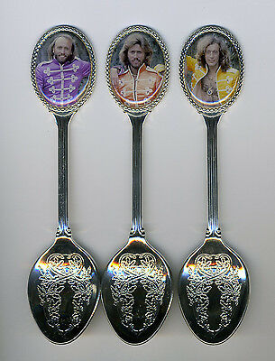 Bee Gees3 Silver Plated Spoons Featuring Bee Gees