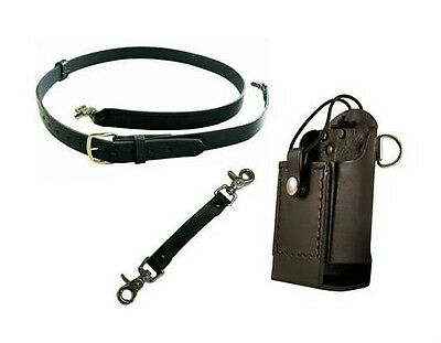 Boston Leather Firefighter's Radio Strap Complete Set-Up - Universal
