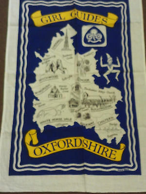 girl guides oxfordshire tea towel