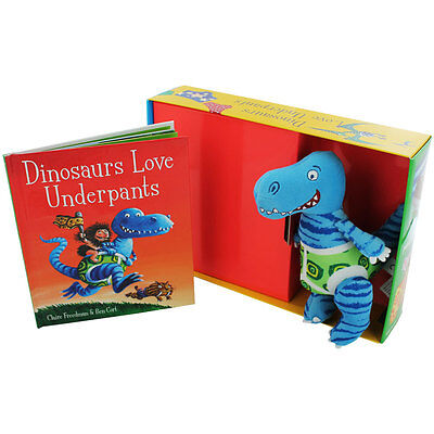 Dinosaurs Love Underpants Book and Toy Pack Set by Claire Freedman- NEW