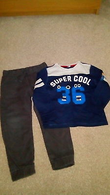 Boys Top And Trousers,  4-5 Years,  F&f