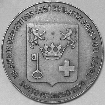 Dominican Republic (1974) XII Central American Games, Large Medal