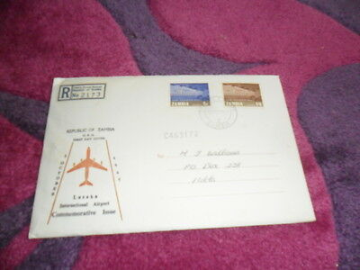 Stamps. FDC. Zambia. 2 Oct 1967. International Airport.