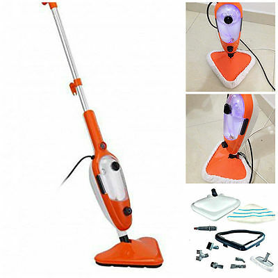 15 in 1 1500w STEAM MOP CLEANER STEAMER HARDWOOD FLOOR CARPET WASHER WINDOW 240v