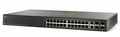 Cisco - Small Business Csb Sg500-28Mpp 28-Port Gigabit Max Poe+ Stackable Manage