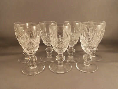 """7 Waterford Crystal Colleen Cordial Goblets 3 1/4"""" Excellent"""