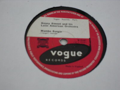 "BENNY BENNET & HIS LATIN AMERICAN ORCHESTRA 78 rpm record ""MAMBO BOOGIE"""