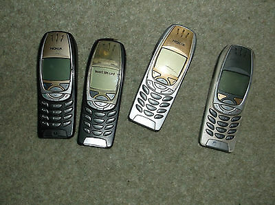 4 Nokia Phones plus Joblot of 80 USED Spare Parts for Nokia 6310i ALL for spares