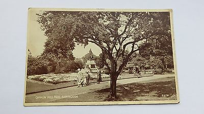 Postcard Birmingham, Cannon Hill Park. Photo. 1936. Posted 1940s.