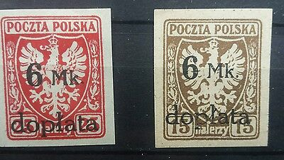 poland stamps. overprinted valuable
