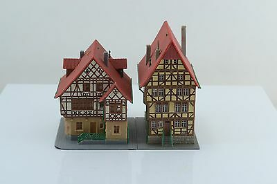 2 Kibri Half Timbered Building / Houses Built Up Z Scale