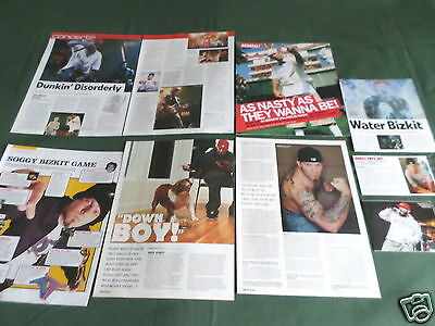 """Fred Durst/limp Bizkit - Rock Music- """"clippings /cuttings Pack"""""""