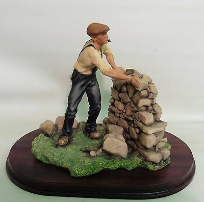 """Large Aynsley Mastercraft Hand Painted Figure/sculpture """"dry Stone Waller"""""""