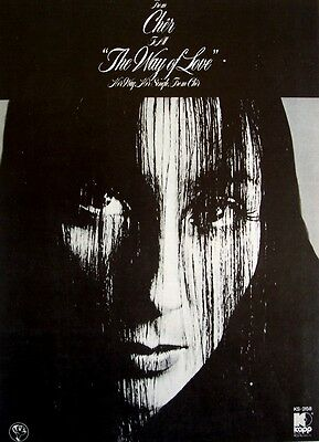 CHER 1972 Poster Ad THE WAY OF LOVE