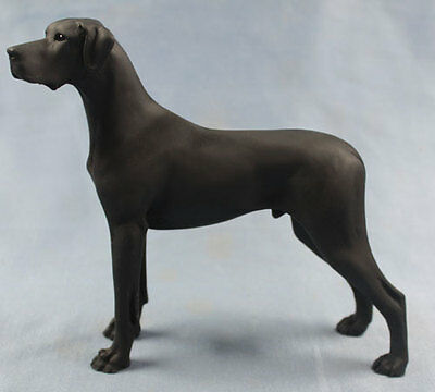 deutsche dogge figur hund North light hundefigur great dane alabaster schwarz