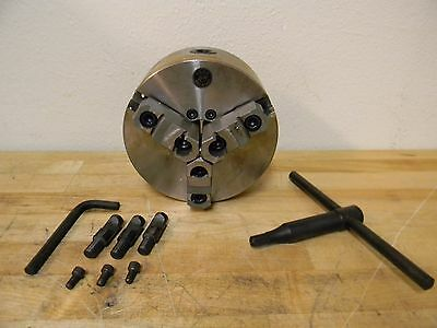 """Interstate 6"""" dia 3-Jaw Self Centering Manual Lathe Chuck with D1-3 Mount"""