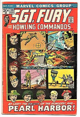 MARVEL COMIC Sgt Fury and His Howling Commandos (1963- 1981)   #101  Very Good +
