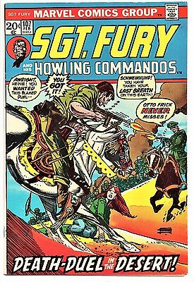 MARVEL COMIC Sgt Fury and His Howling Commandos (1963- 1981)   #107  Very Fine -