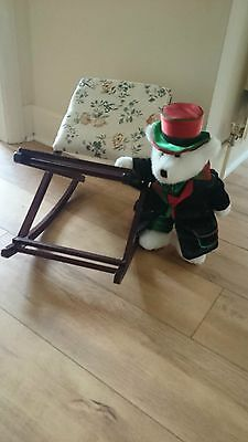 Stunning Teddy Bear /  Dolls Display Rocking Chair