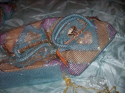 joblot of 4 clutch bags with beads and diamantes