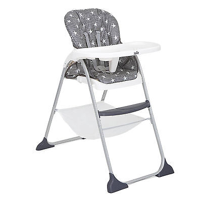 New Joie Twinkle Linen Grey Mimzy Snacker Highchair Reclining Baby High Chair