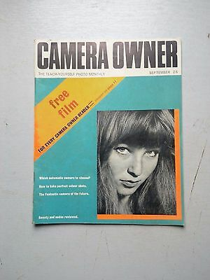 CAMERA OWNER MAGAZINE  SEPTEMBER ISSUE ,UNDATED . CIRCA 1960,s