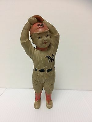 "Super Rare Vintage1930s Japan.Antique Celluloid Toy Figure Of ""BABE RUTH''  N.Y"