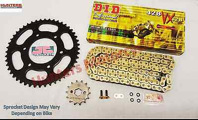 Yamaha YZF-R125 DID Gold X-Ring Chain & JT Sprocket Kit Set