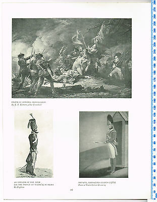 Death Of General Montgomery Antique Military Picture Print
