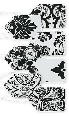 """1500 Assorted Black White Paper Price Tags 1 1/16"""" x 1 ⅝  String Merchandise"""