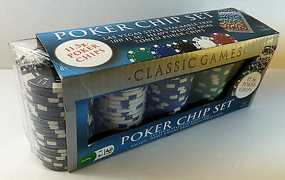 NEW Classic Games Poker Chip Set (Heavy 11.5g) Las Vegas Style Tray 100 Count