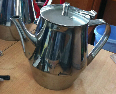 18/8 stainless steel coffee/tea pot cafe style 32oz/.091 litre